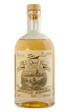 Angels' Share small batch rum - Kill Devil Rum from Outer Banks Distilling Whisky, Cigars And Whiskey, Whiskey Bottle, Tequila, Alcoholic Drinks, Cocktails, Liqueur, Bacchus, Distillery