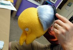 Mr. Burns in production. GallerySwazzle
