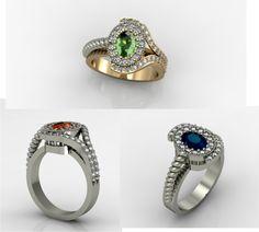#ruby #saphir #tanzanite #diamond #gold #ring