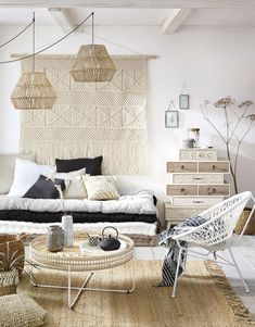 Large macrame wall hanging Extra Large Macrame Tapestry for Boho Home Dec .Large macrame wall hanging Extra Large Macrame Tapestry for Boho Home Decor, Macrame Headboard orDestructured weekly chest of 8 drawers made of fir Teen Furniture, Hallway Furniture, Sofa Furniture, Dining Room Furniture, New Swedish Design, Decorating Coffee Tables, Soft Furnishings, Room Decor Bedroom, Interior Design Living Room