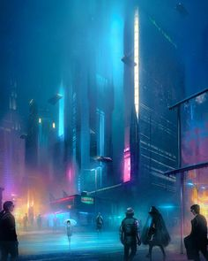 This week we'll be doing a grab bag of beautiful cyberpunk art. No theme, just pure cyberpunk beauty. I do my best to find and give credit to the original artist. Cyberpunk City, Cyberpunk Kunst, Cyberpunk Aesthetic, Futuristic City, Futuristic Technology, City Aesthetic, Technology Gadgets, Cyberpunk Fashion, Sci Fi Fantasy