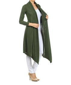 8417f7071a Another great find on  zulily! Olive Sidetail Open Duster by Pretty Young  Thing