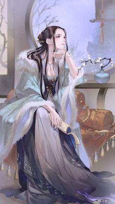 Chica Fantasy, Fantasy Girl, Pretty Art, Cute Art, Cute Anime Character, Character Art, Chinese Drawings, Geisha Art, Chinese Cartoon