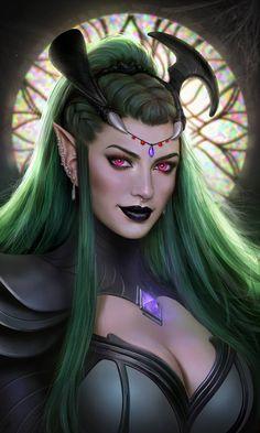 Fantasy Art Angels, Fantasy Art Women, Beautiful Fantasy Art, Fantasy Girl, Fantasy Warrior, Fantasy Rpg, Dark Fantasy Art, Fantasy Artwork, Dnd Characters