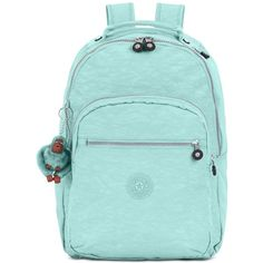 bea8fb824 Kipling Seoul Backpack ($114) ❤ liked on Polyvore featuring bags,  backpacks, seafoam