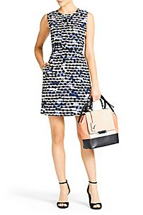 DVF | The Margarina Dobby is a playful printed dress with a subtle flare skirt.   http://on.dvf.com/198b4P6