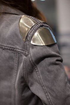 How to make any of your denim jackets more badass: Add metal to the shoulders