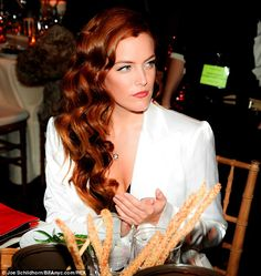 riley keough red hair | Riley Keough channels grandfather Elvis in tuxedo jacket | Mail Online