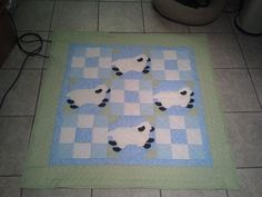 Sheep Baby Quilt by CittysCrochet on Etsy, $65.00