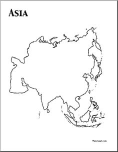 1000 images about kids continents on pinterest for Asia map coloring page