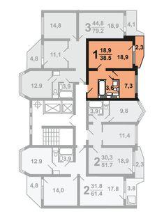 Продажа 1-комнатной квартиры в ЖК «Некрасовка» корп.11 эт.2 №174 в Москва, ЮВАО по ценам застройщика