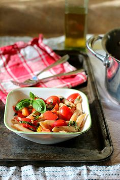 Whole Wheat Pasta with Fresh Tomatoes and Herbs