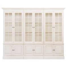 Villa 3-piece Library Bookcase - Ethan Allen US Color: Caraway 277 interior and exterior. For dining room