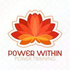 Logo ideal for personal training, yoga training, holistic centers and many more.  The logo is representing a stylized lotus flower in the tones of red and orange. Warm and power colors. Logo also nice when used in blue tones.