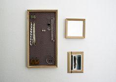 Schmuckständer & -halter - Set rot- Schmuckaufbewahrung,Spiegel,Kartenhalter - ein Designerstück von keep-it bei DaWanda