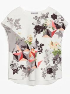 Digital Floral T-Shirt $21