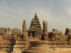 Mahabalipuram, India. Classified as a UNESCO World Heritage site. Most of it was built between the 7th and 9th century.