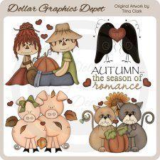Autumn Romance - Clip Art