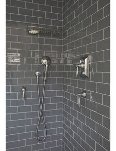 Shiny dark grey tiles