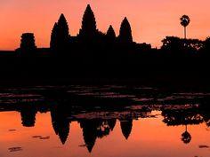 Angkor Wat, Cambodia. Sunrise and sunset