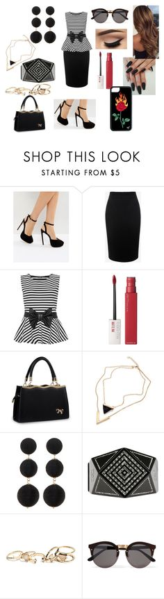 """""""Fancy Date Night! 💖"""" by roxy-crushlings on Polyvore featuring ASOS, Alexander McQueen, WearAll, Maybelline, Cara Accessories, Chanel, GUESS, Illesteva and plus size clothing"""