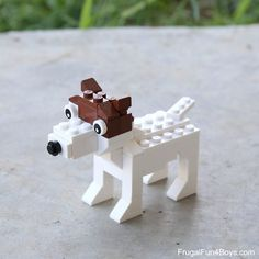 LEGO Terriers Building Instructions - Frugal Fun For Boys and Girls Lego Projects, Projects To Try, Terrier Dogs, Terriers, Lego Dog, Lego Brick, Lego Creations, Stem Activities, Bricks