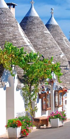 Typical houses of Alberobello, Puglia, Italy....