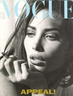Vogue Italy cover with Christy Turlington - October 1989