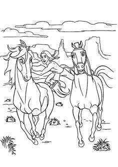 coloriage chevaux spirit a imprimer gratuit dessins pinterest