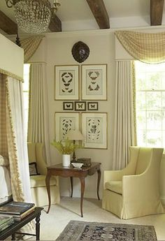 Charming vignette--want to see the rest of the room! Smart picture arrangement Charming vignette--want to see the rest of the room! Beautiful Bedrooms, Beautiful Interiors, Beautiful Homes, Dream Bedroom, Master Bedroom, Bedroom Decor, Bedroom Drapes, Bedroom Corner, Pretty Bedroom