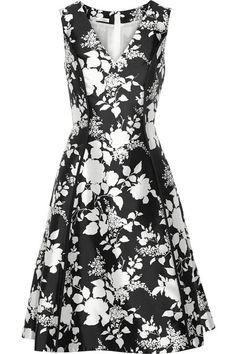 Oscar de la Renta   Floral-print silk and cotton-blend dress   NET-A-PORTER.COM