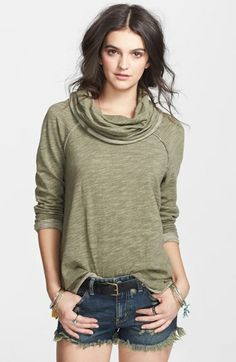 Free People 'Beach Cocoon' Cowl Neck Pullover available at #Nordstrom