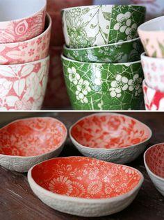 Ceramic bowls Samantha Robinson available at Crave Wares Porcelain Ceramics, Ceramic Bowls, Ceramic Pottery, Stoneware, Porcelain Doll, China Porcelain, Samantha Robinson, Watermelon Bowl, Keramik Design