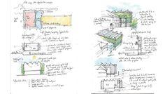 Dalmain Primary School, architects Drawings, designed by Mackenzie Wheeler Architects, London.