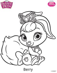 Princess Palace Pets Berry Coloring Page By SKGaleanadeviantart On DeviantArt