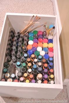 Great idea for a glass painting girls' craft night - One Project Closer
