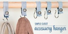 Simple Closet Accesory Hooks