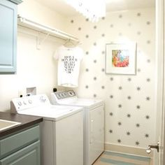 It's been just over a year since I finished our laundry room makeover. It's such a happier place now! For more pics, details and source list search 'laundry room reveal' on the blog (link in profile).