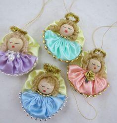 Vintage Angel Christmas Ornaments Handmade by VintageCocobytheLake, $19.95