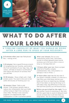 Long Distance Running Recovery Plan An Actionable Timeline! is part of fitness This is your long distance running recovery plan set out in timeline form! What and when you start the recovery process - Laufen Im Winter, Marathon Laufen, Half Marathon Training Plan, Half Marathon Recovery, Half Marathon Tips, Half Marathon Quotes, Beginning Running, After Running, How To Start Running