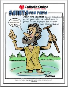 Saints Fun Facts - St. John the Baptist by Catholic Shopping .com | Catholic Shopping .com