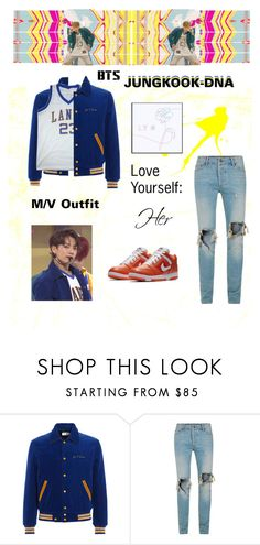 """""""BTS: JUNGKOOK """"DNA"""" M/V Outift"""" by itzbrizo on Polyvore featuring NIKE and Topman"""