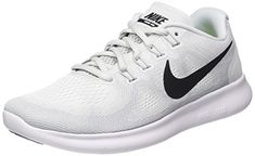brand new 4da59 491b0 NIKE Men s Free RN 2017 Running Shoe White Black Pure Pla.