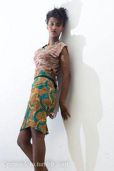 High waist skirt n crop top
