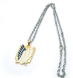 Shingeki no Kyojin (Attack on Titan) Survey Corps Wings of Freedom emblem necklace