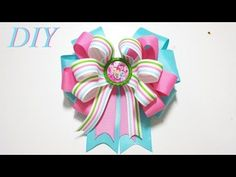 Como Hacer Lazos DIY #60 Lazo inspirado en Mi Pequeño Pony Tutorial - YouTube Making Hair Bows, Diy Hair Bows, Diy Bow, How To Make Hair, How To Make Bows, My Little Pony Hair, Mini Boutique, Cute Sewing Projects, Hair Bow Tutorial