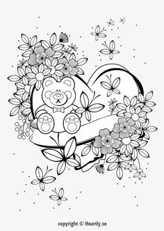 Coloring page book - Coloring Book for Coloring Pages For Grown Ups, Easter Coloring Pages, Free Adult Coloring Pages, Colouring Pages, Printable Coloring Pages, Coloring Books, Floral Drawing, Flower Drawings, Learn To Paint