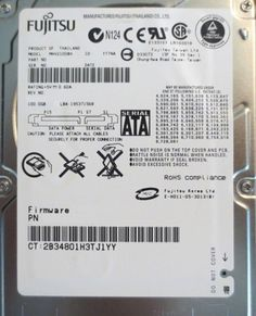 "10 pc. lot Fujitsu MHV2100BH 2.5"" 100gb 5400rpm Sata HDD (DOD tested & Wiped) - Effective Electronics"