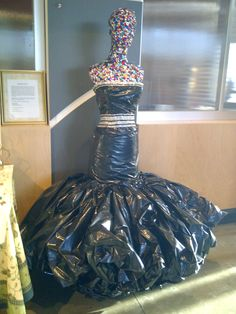 Made out of Garbage Bags..<3 working with the team from Western Canada Fashion week ;)