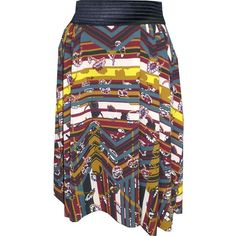 Petit Pois Rodeo Circular Skirt ($199) ❤ liked on Polyvore featuring skirts, multiple colors, multicolor skirt, multi color skirt, mini circle skirt, pleated skirt and pleated circle skirt